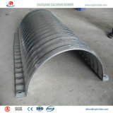 Tubulação de aço ondulada oval para a sargeta da via navegável a Qatar