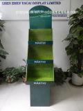 Складные индикации картона шипучки с 3 подносами для инструментов, бумажной материальной стойки индикации картона Pop/POS