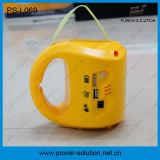 Lanterne solaire portative de batterie d'acide de plomb du panneau solaire 2*1.7W avec le chargeur de téléphone mobile avec une ampoule