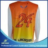 Lacrosse de los hombres de encargo de la sublimación Pinny del reversible de 2 capas