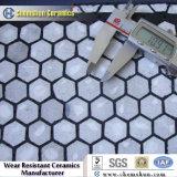 Fodera di ceramica delle mattonelle di usura di appoggio gomma con alta resistenza di abrasione