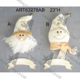 [سنتا] ورجل ثلج جدار لوح معدنيّ عيد ميلاد المسيح زخرفة [جفت-2سّت.]