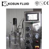 bioreactor de vidro agitado mecânico do fermentador de 5L 7L 10L