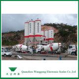 이동을%s 트럭 가늠자는 콘크리트 또는 시멘트 트럭을 섞는다