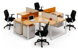 最新のOffice Cross Partition Modern Round 4 Seater Workstation (SZ-WS026C)