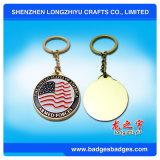 Chaveiro da bandeira americana Chaveiro da moeda Chaveiro do metal Presentes do lembrança