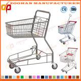 Hoher Winkel-Euroart-populäre Supermarkt-Einkaufen-Karren-Laufkatze (ZHt228)