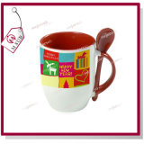 Printingの12oz Sublimation Ceramic Colored Spoon Mug