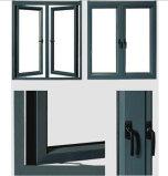 이중 유리로 끼워진 알루미늄 여닫이 창 Windows 그네 Windows 알루미늄 Windows
