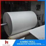 rolo do papel de transferência do Sublimation 80GSM para a matéria têxtil do poliéster