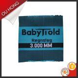 Black prefabbricato Logo Garment Clothing Woven Label per Swimwear