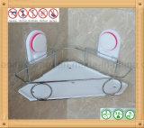 흡입 컵 삼각형 선반을%s 가진 크롬 도금을 한 도금된 목욕탕 이동할 수 있는 코너 선반