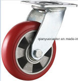 Hochleistungs-PU auf Aluminium Swivel Caster Wheel