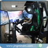 3つのスクリーン、Logitech G29が付いている自動カーレースのシミュレーターを回すArduinoシステムサーボモーター構造360degree