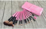 12 parties en bois solide de cheveu synthétique rose de traitement de renivellement d'artiste de balai professionnel de renivellement