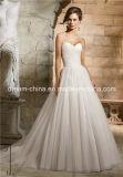 MoriリーMorileeの簡単で安い価格の恋人のストラップレスのサテンのテュルのプロムのウェディングドレス(夢100074)