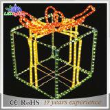 Свет праздника коробок подарка СИД мотива украшения 3D рождества