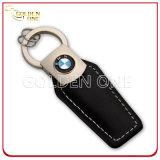 Couro escovado aço Keychain da cola Epoxy do revestimento da alta qualidade