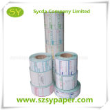 Escritura de la etiqueta auta-adhesivo termal con el papel del forro del papel cristal