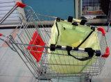 Aufbereiteter beweglicher faltbarer Supermarkt-Laufkatze-Karren-Beutel für das Einkaufen