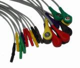 Câble du joncteur réseau ECG de GE-Rozinn Snap&Clip DIN 10