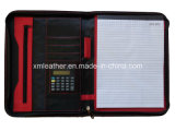 Farbe Matching PVC Leather Folio Fall mit Zipper Around