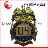 Tallando el metal material de la aleación del cinc de la tecnología la policía Badge