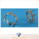 Form-Schmucksachen für der Dame-schöne Krone Sterlingsilber CZ Entwurfs-des Ring-925 schellen R10496, R10463