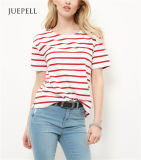 Red Stripe Boxy T-shirt Femme