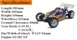 1/8th Scale PRO Nitro fuori dal mostro Truck RC Erc760 di Road Buggy Hsp Gas 4X4 RC