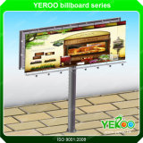 Muestra de camino al aire libre de la carretera que hace publicidad de la visualización de la cartelera de la tarjeta de la muestra