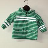 Куртка/плащ дождя PU зеленой нашивки отражательные