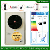 Netherland Amb. Split de Evi da bomba de calor da fonte de ar interno do condensador do quarto 12kw/19kw/35kw do medidor do assoalho Heating100~350sq do inverno de -25c mini