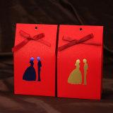 Rectángulo de regalo cortado con tintas del caramelo/rectángulo de papel de la tarjeta con el sellado caliente