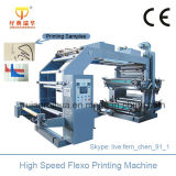 Machine d'impression en couleurs flexographique de film plastique