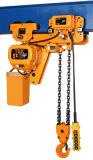 Grue à chaînes électrique de bas espace libre de 10 tonnes