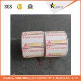 Etiqueta térmica da impressão da etiqueta das vendas do mercado do código de barras da impressora autoadesiva