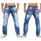 2016 изготовленный на заказ джинсыов джинсовой ткани простирания способа людей