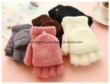 Перчатки перста симпатичных женщин половинные греют перчатку Mitten