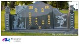Cinese della pietra del granito della natura che intaglia Headstone commemorativo con personalizzato
