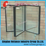 Vidrio sellado /Hollow /Insulated de cristal de cristal/5m m Grey+ 6A/9A/12A + 5m m E Low- clara/