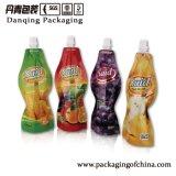 特別な形ジュースの飲むことは口が付いている袋を立てる