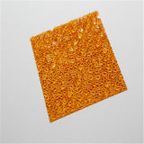 Folha gravada do policarbonato para a decoração