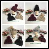 冬の擬似毛皮の熱い販売の方法Earflapによって編まれる帽子メーカー(KH1503-16)