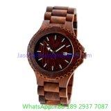 Relógio de madeira de primeira qualidade, relógios de quartzo (HLJA-15162)
