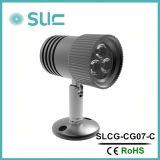 luz de aluminio de la visualización de LED de la iluminación del punto de los muebles de 3W LED