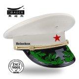 Holland passte weiße Offizier- in der Armeeuniform mit grüner Stickerei an