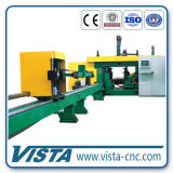 Hbeam Box Beam Ubeam를 위한 CNC 3D Beams Drilling Machine (7 축선)