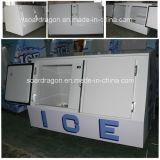 Ce одобрил бункер положенный в мешки бензоколонкой льда Merchandiser льда Vt-400