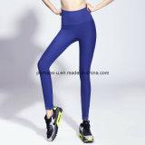 Alto desgaste de la yoga de las polainas del entrenamiento de los pantalones de la aptitud de las mujeres de la cintura
